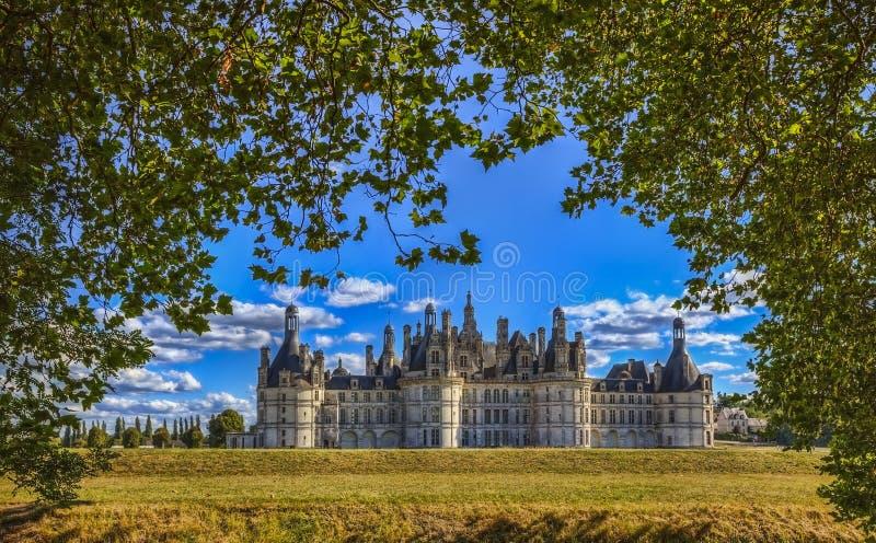 Замок Chambord стоковые изображения