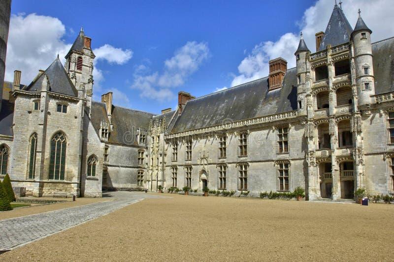 Замок Chateaudun в Эре et Loir стоковая фотография rf