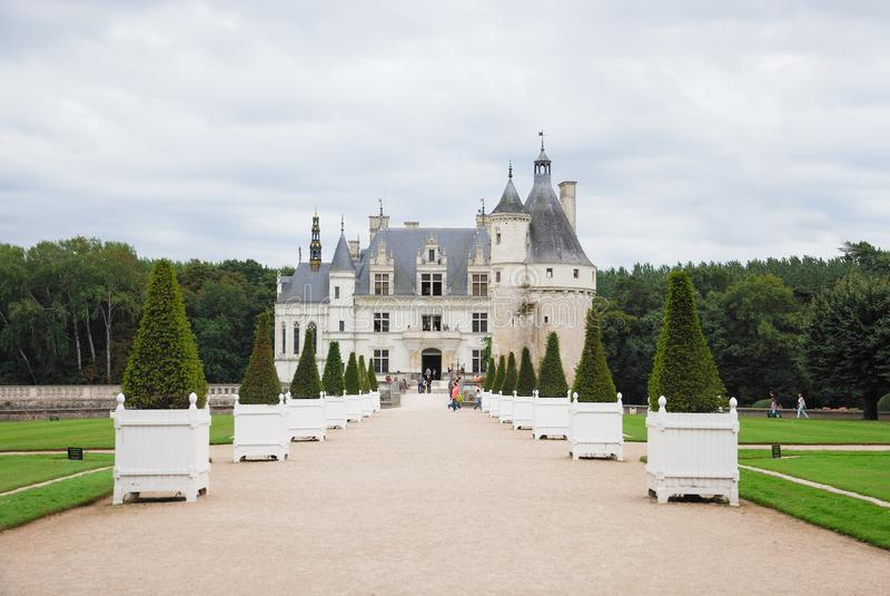Замок Chenonceau в области Loire Valley стоковое фото rf
