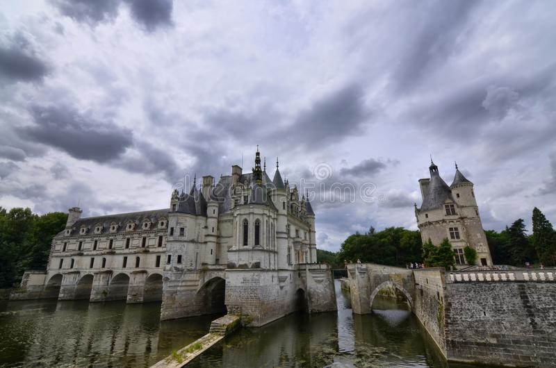Замок Chenonceau, области Луары, Франции Снимок 27-ое июня 2017 стоковые изображения rf