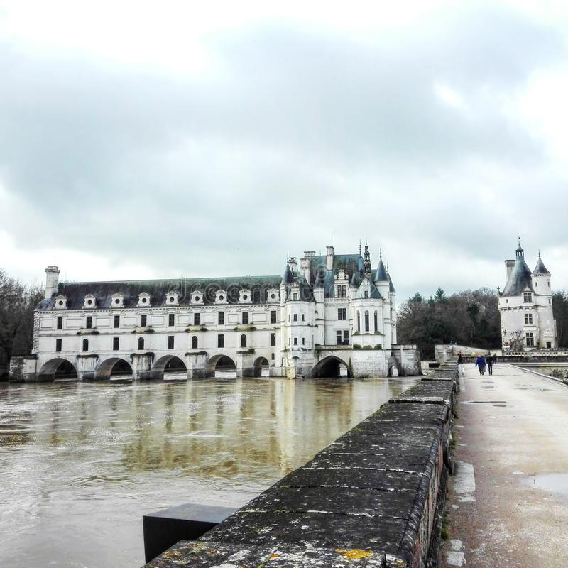 Замок Chenonceau стоковые изображения rf