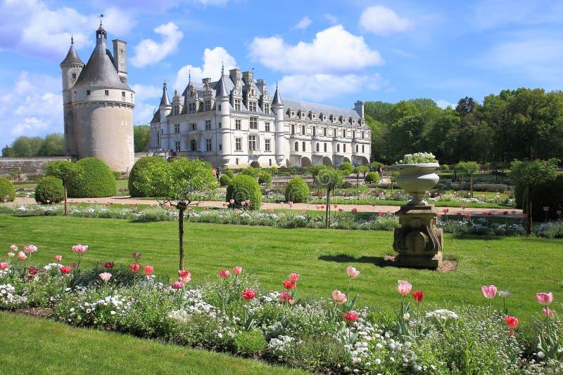Замок Chenonceau стоковая фотография rf