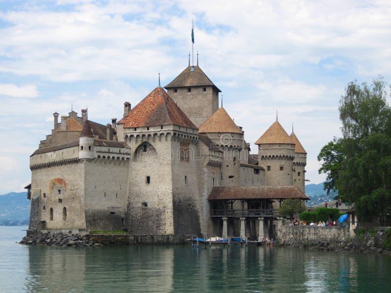 Замок Chillon, Швейцария стоковое изображение