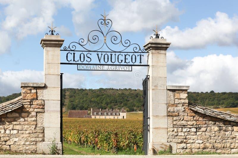 Замок Clos de Vougeot в бургундском, Франции стоковое фото