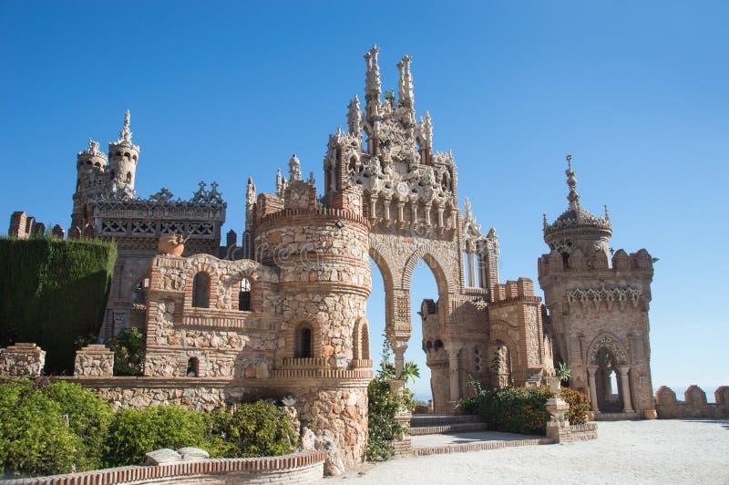 Замок Colomares на Benalmadena стоковые изображения rf