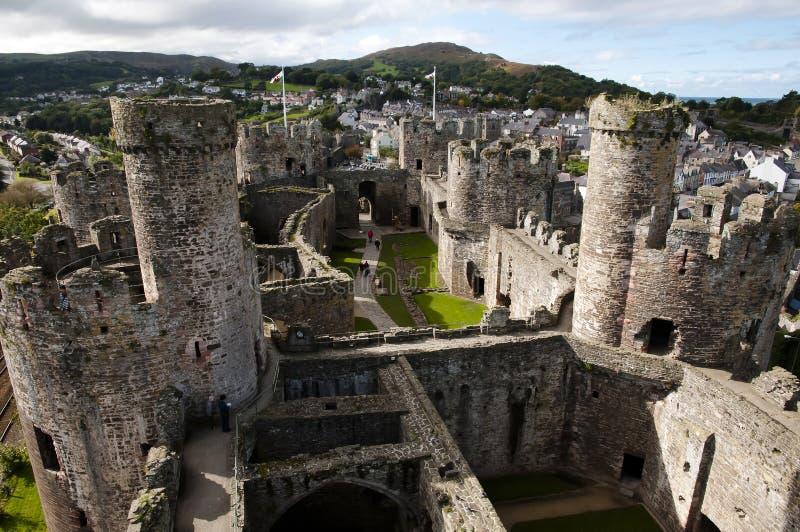 Замок Conwy - Уэльс - Великобритания стоковое фото rf