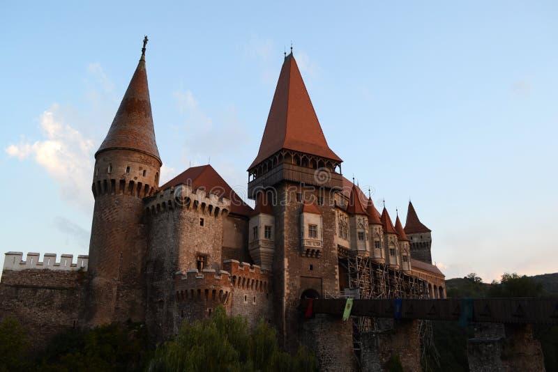 Замок Corvin или замок Hunyad стоковое изображение