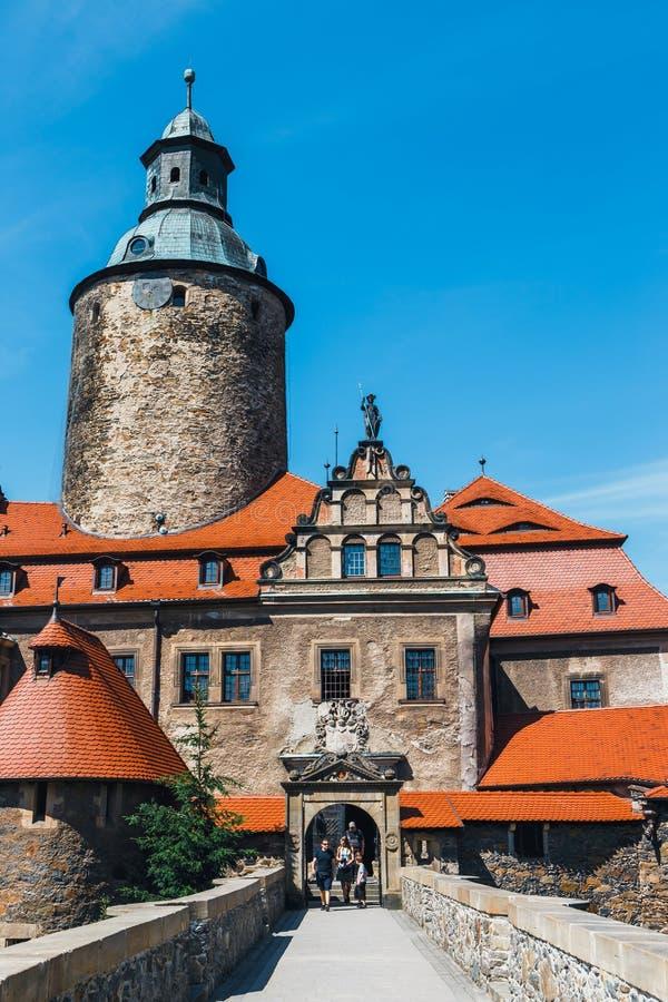 Замок Czocha, защитительный замок в Польше стоковые фото