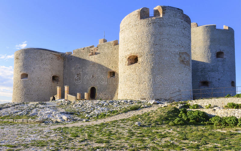 Замок d если, марсель, Франция стоковое фото rf