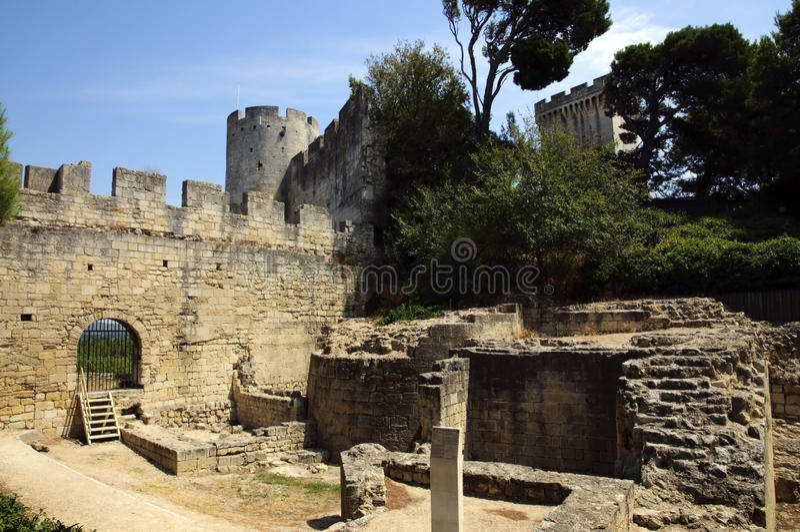 замок de Франция замока beaucaire стоковое фото
