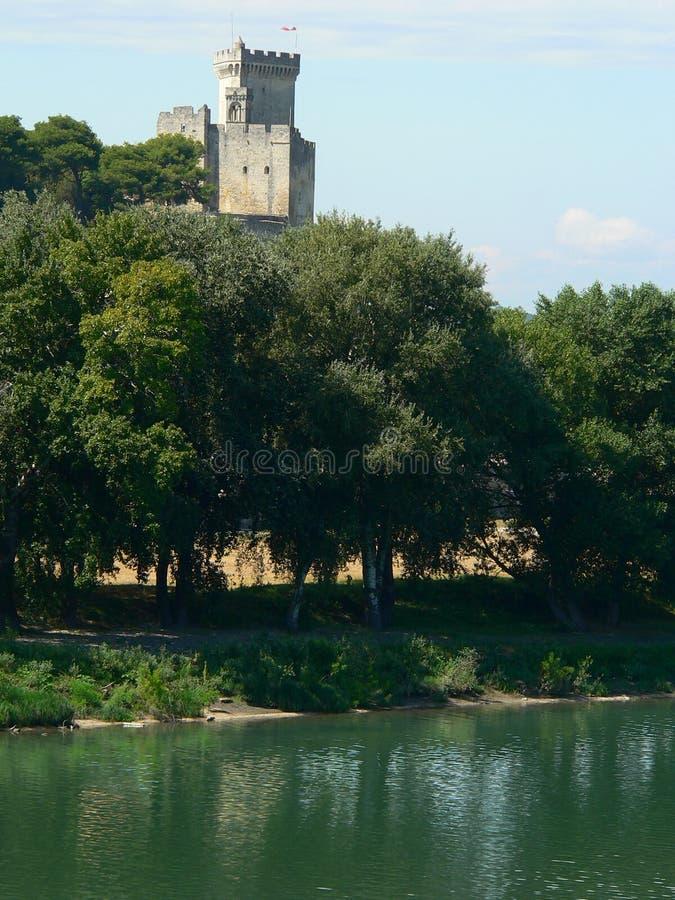 Замок de Beaucaire, Франция стоковые изображения
