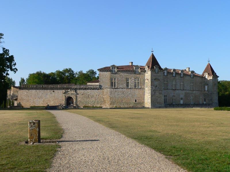 Замок de Cazeneuve, Prechac (Франция) стоковые фото