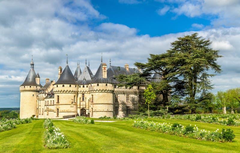 Замок de Chaumont-sur-Луара, замок в Loire Valley Франции стоковая фотография rf