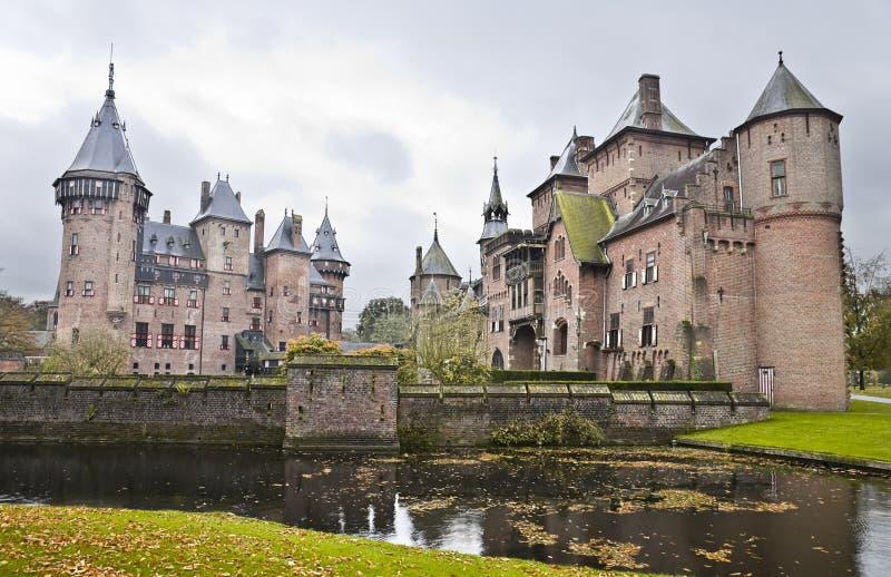 Замок De Haar в Нидерландах стоковое фото