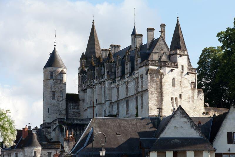 Замок de Loches в Loire Valley стоковое фото