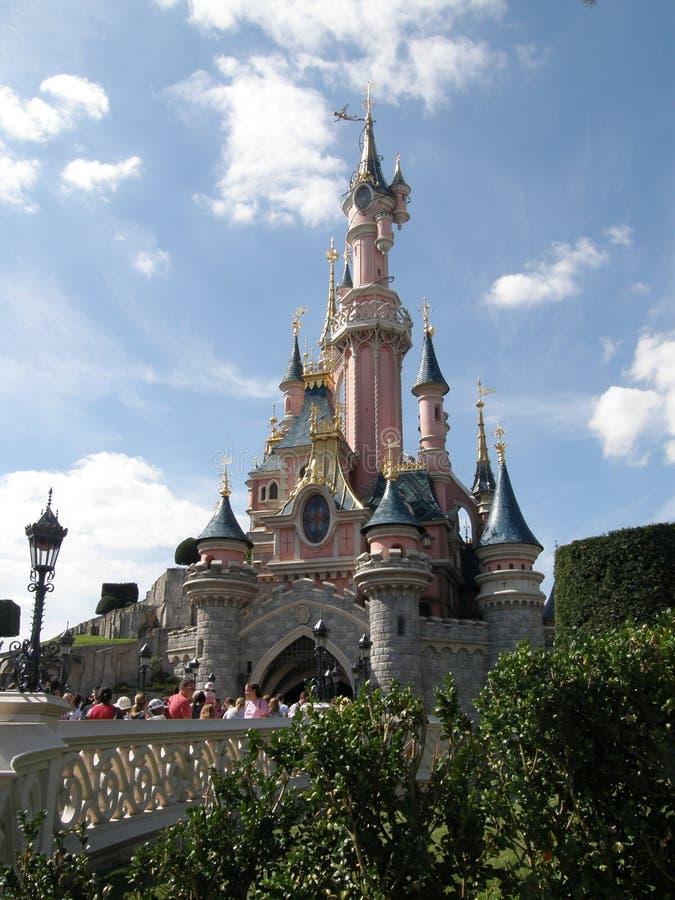 замок disneyland стоковое фото
