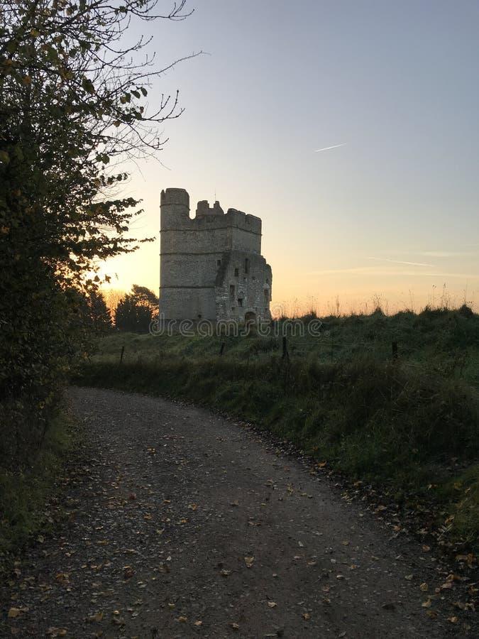 Замок Donnington в западном Беркшире стоковые изображения rf