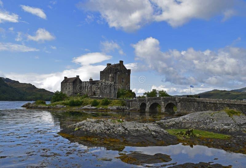 Замок Eilean Donan крепость тринадцатого века стоковое фото