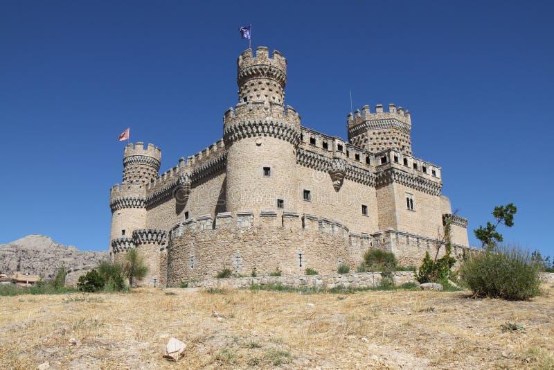 замок el manzanares реальный стоковые изображения rf