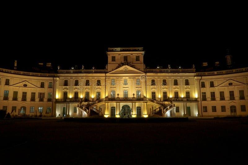 Замок Esterhazy на ноче стоковое фото rf