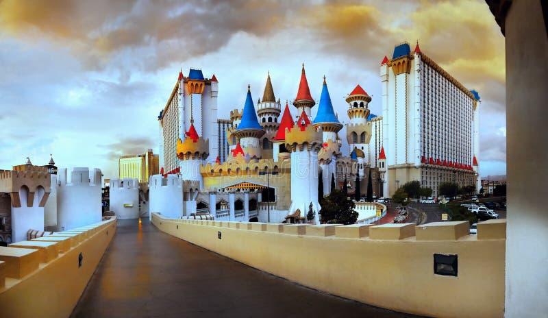 Замок Excalibur сказки стоковое фото