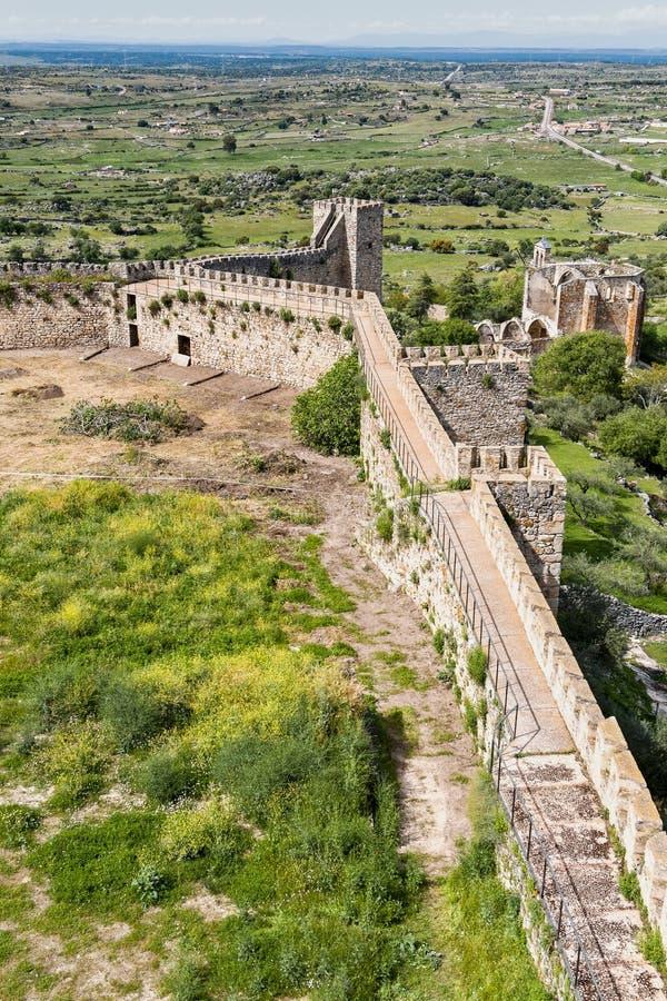 Замок Extremedura Испания Trujillo стоковые изображения rf