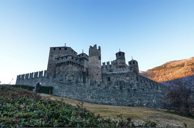 Замок Fenis стоковое изображение rf
