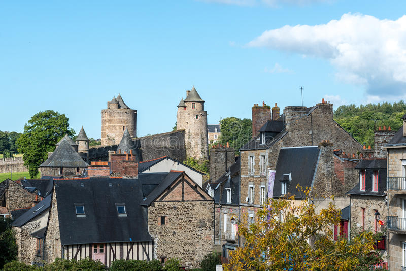 Замок Fougeres, Ille-et-Vilaine отдел (Франция) стоковые изображения rf