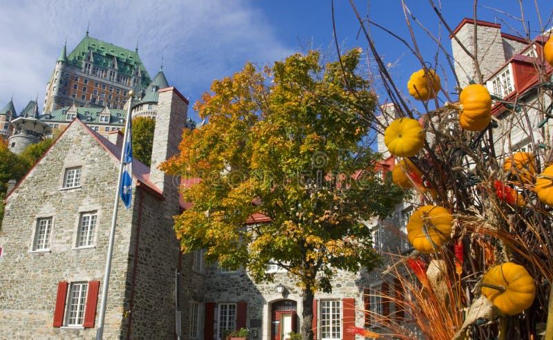 Замок Frontenac в осени, Квебеке (город) стоковое фото rf