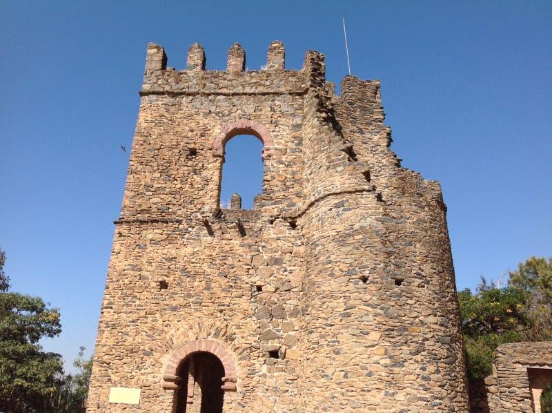 Замок Gondar Эфиопия Fasil стоковое изображение rf
