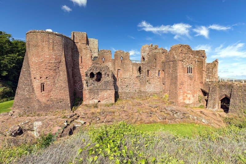 Замок Goodrich - вид спереди, Herefordshire стоковая фотография