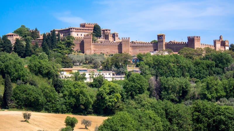 Замок Gradara в Италии стоковое фото rf