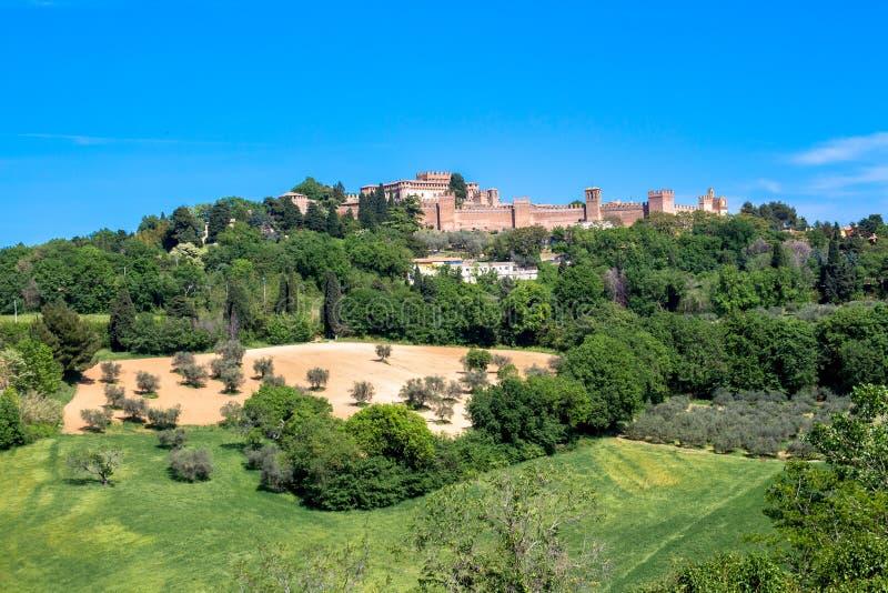 Замок Gradara в Италии стоковое фото