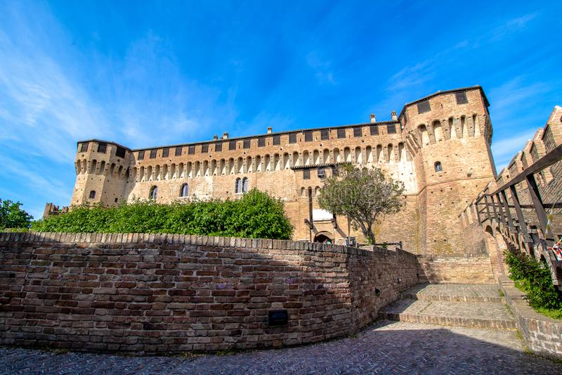 Замок Gradara в Италии стоковая фотография rf