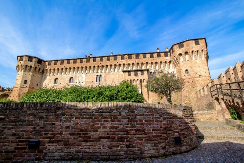 Замок Gradara в Италии стоковая фотография