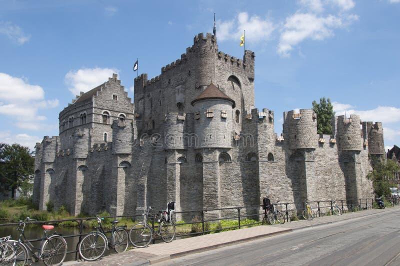 Замок Gravensteen в Gent стоковая фотография