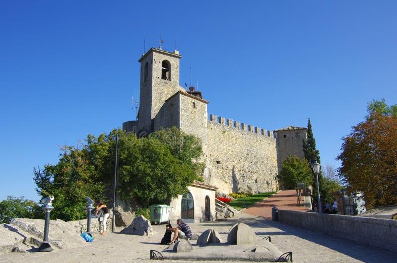Замок Guaita в Сан-Марино стоковое изображение