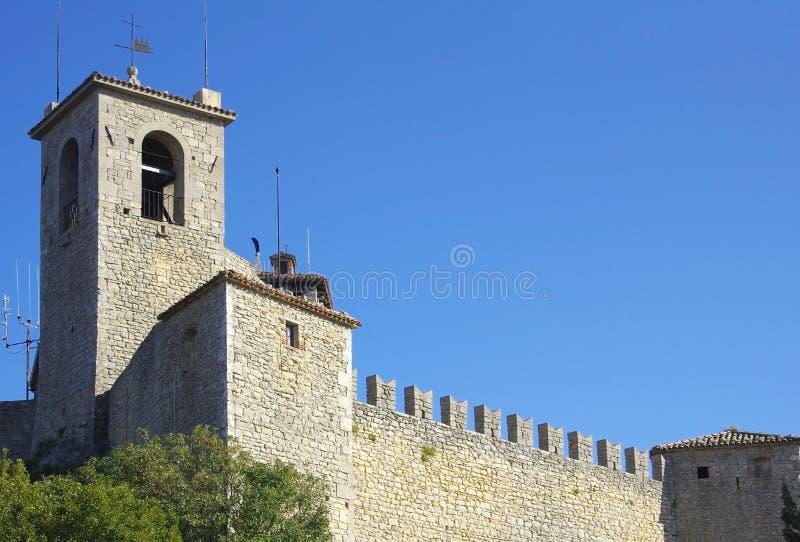 Замок Guaita в Сан-Марино стоковые фотографии rf