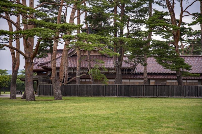 Замок Hakodate или бывший офис магистрата, Япония стоковые изображения