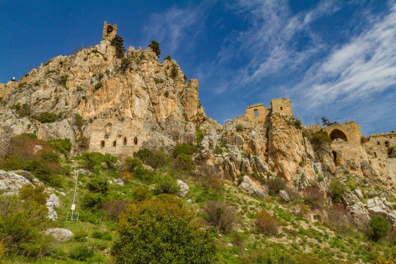 Замок Hilarion святой, Kyrenia, Кипр стоковые изображения rf