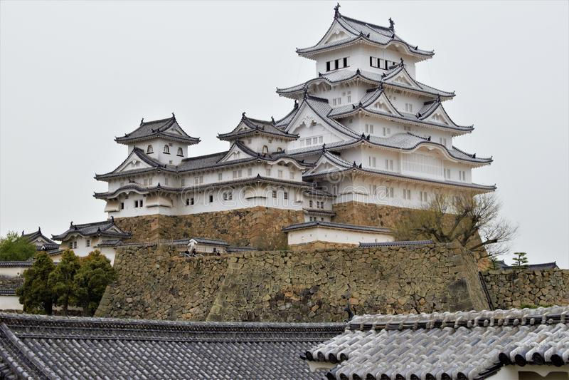 Замок Himeji в городе Himeji, префектуры Hyogo, Японии стоковое фото rf