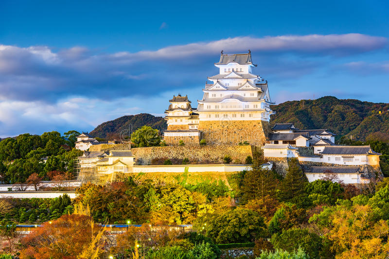 Замок Himeji, Япония стоковое фото rf