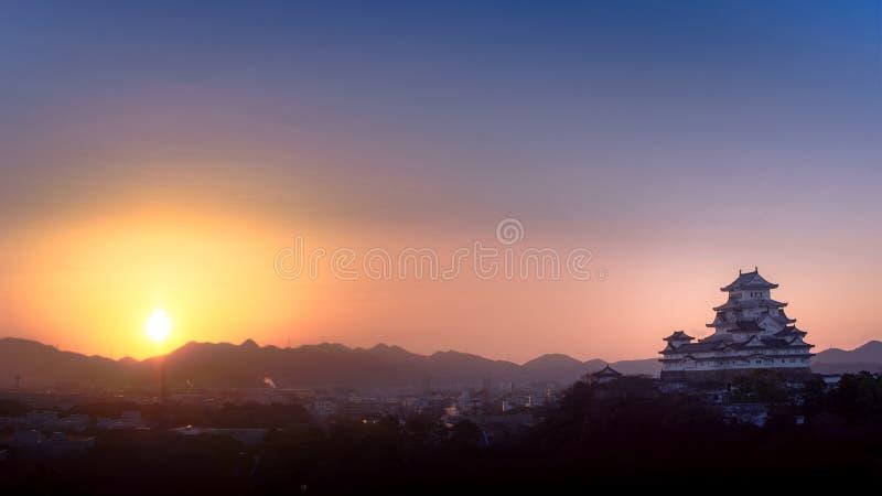 Замок Himeji стоковые изображения