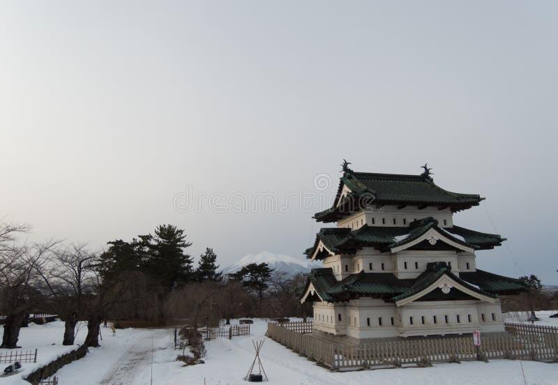 Замок Hirosaki в Японии стоковые фотографии rf
