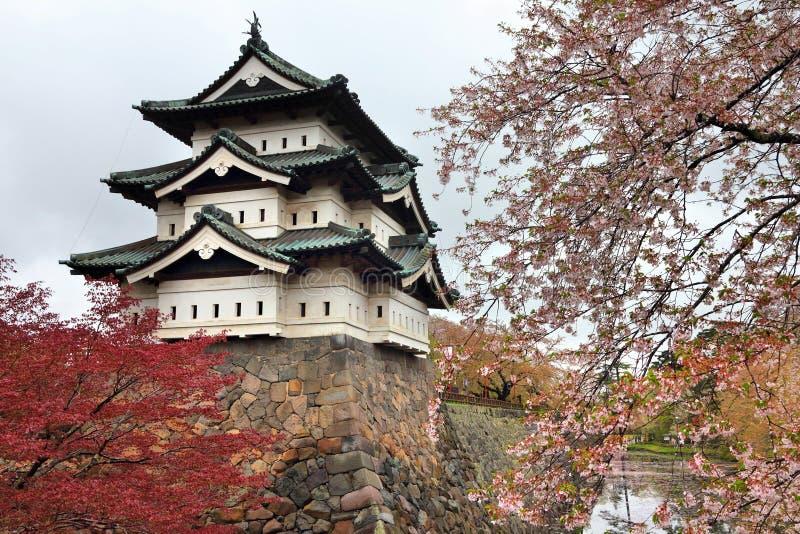 Замок Hirosaki, Япония стоковые фотографии rf