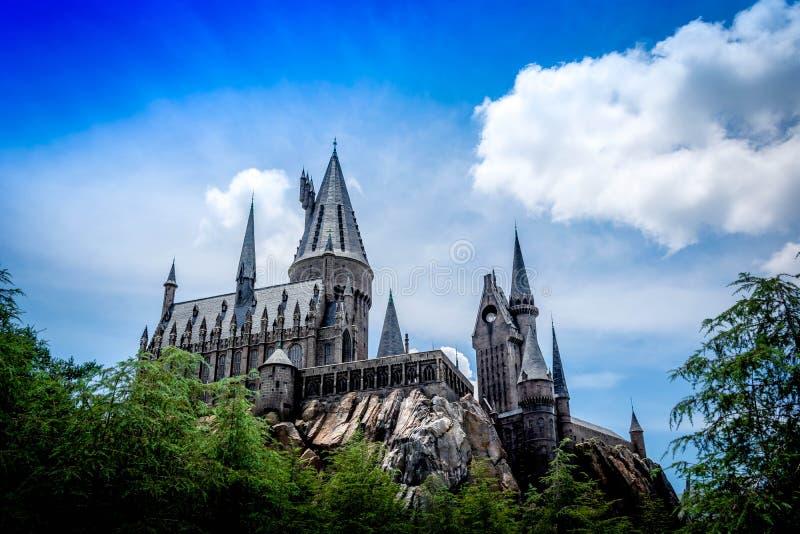 Замок Hogwarts Гарри Поттера стоковые фотографии rf