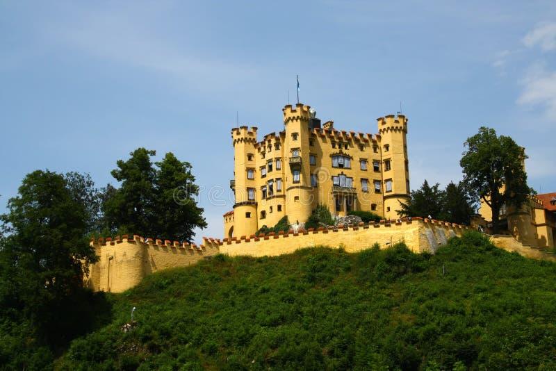 замок hohen schwangau стоковые фото