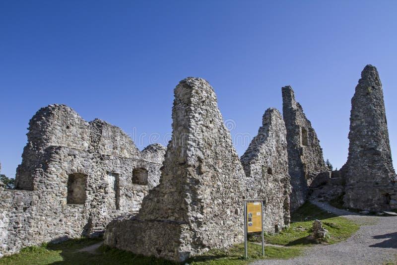 Замок Hohenfreyberg стоковые фотографии rf