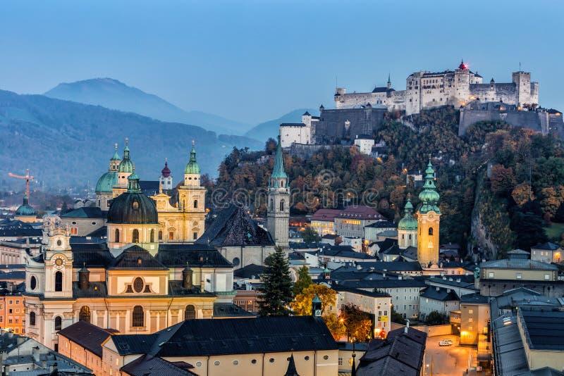 Замок Hohensalzburg, Зальцбург Австрия стоковое изображение