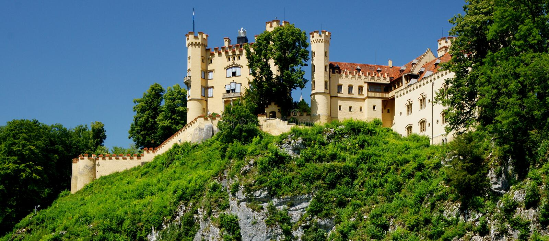 Замок Hohenschwangau стоковая фотография rf